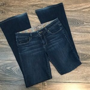 Paige Bell Canyon Flare Jean Dark Wash